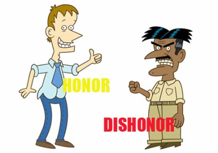 honor dishonor